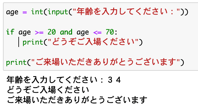Python 条件分岐 if文