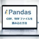 Python pandas CSV TSV ファイル 読み込む方法 取り込む方法