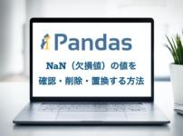 pandasで欠損値(NaN)数を確認、削除、置換する方法