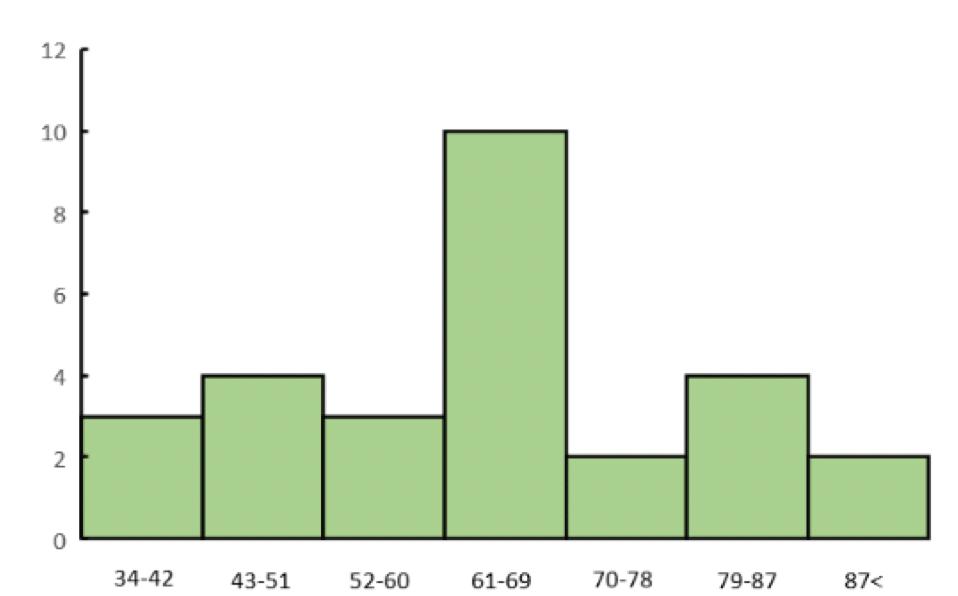 架空の模試得点のデータ